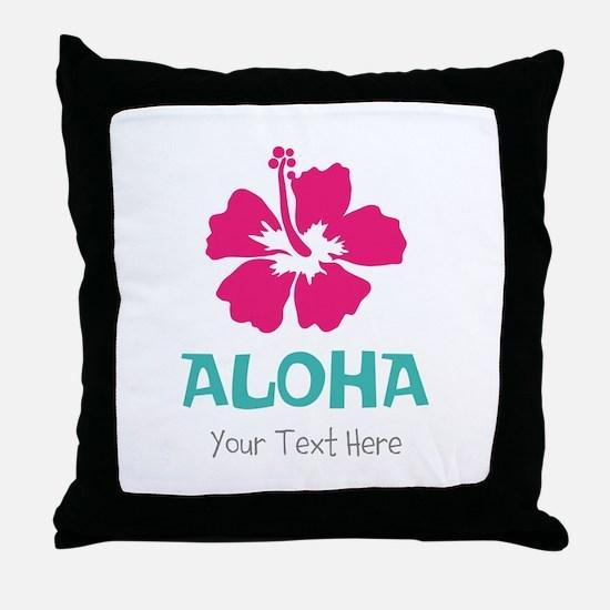 Hawaiian flower Aloha Throw Pillow