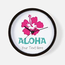 Hawaiian flower Aloha Wall Clock
