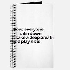 Play nice! Journal
