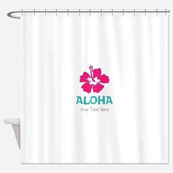 Hawaiian flower Aloha Shower Curtain
