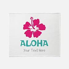Hawaiian flower Aloha Throw Blanket