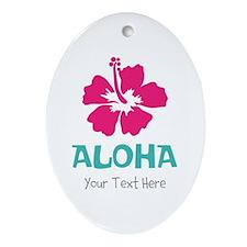 Hawaiian flower Aloha Ornament (Oval)
