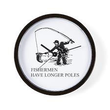 fishermen have longer poles Wall Clock