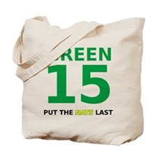 Green 15 Double Sided Tote Bag