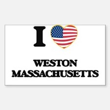 I love Weston Massachusetts Decal