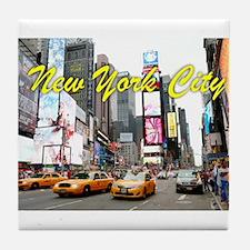 Times Square New York Pro Photo Tile Coaster