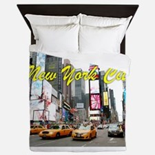 Times Square New York Pro Photo Queen Duvet