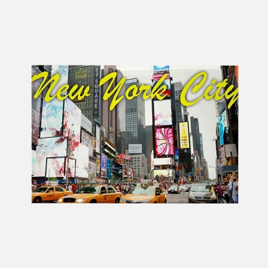 Times Square New York Pro Photo Rectangle Magnet
