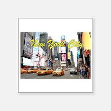 "Times Square New York Pro P Square Sticker 3"" x 3"""