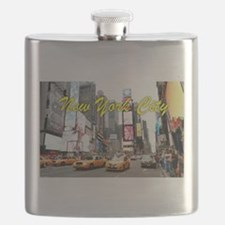 Times Square New York Pro Photo Flask