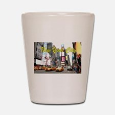 Times Square New York Pro Photo Shot Glass