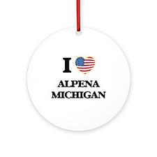 I love Alpena Michigan Ornament (Round)