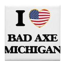 I love Bad Axe Michigan Tile Coaster