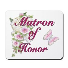 Bouquet Wedding - Matron of Honor Mousepad