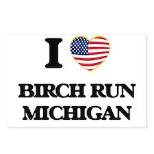 I love Birch Run Michigan Postcards (Package of 8)