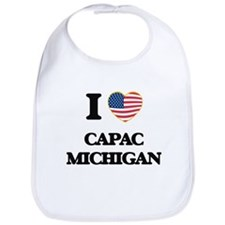 I love Capac Michigan Bib