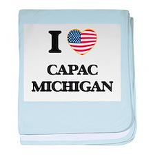 I love Capac Michigan baby blanket