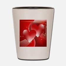 hearts aglow Shot Glass
