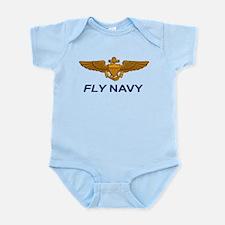 Unique Navy dolphins Infant Bodysuit