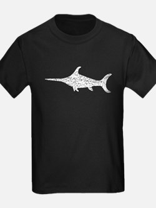 Distressed Swordfish Silhouette T-Shirt
