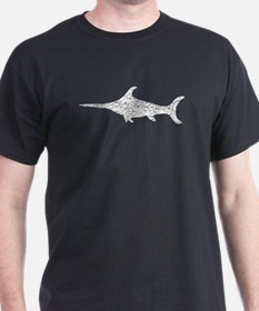 Distressed Swordfish Silhouette T-Shirt