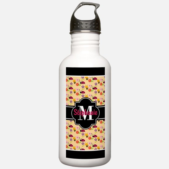 Bees and Ladybugs Patt Water Bottle
