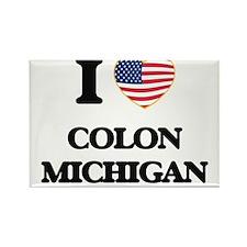 I love Colon Michigan Magnets