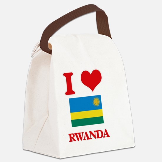 I Love Rwanda Canvas Lunch Bag