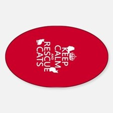Keep Calm and Rescue Cats Decal