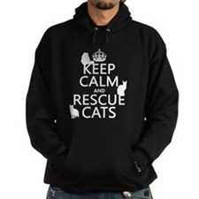Keep Calm and Rescue Cats Hoody