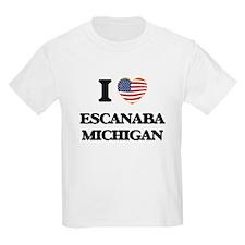 I love Escanaba Michigan T-Shirt