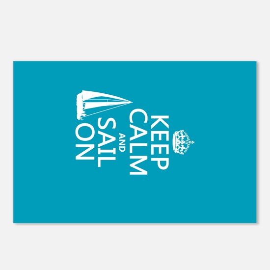 Keep Calm and Sail On Postcards (Package of 8)