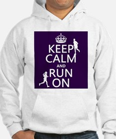 Keep Calm and Run On Jumper Hoody