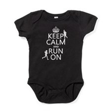 Keep Calm and Run On Baby Bodysuit