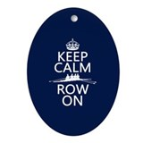 Rowing Oval Ornaments