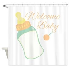 Welcome Baby Shower Curtain