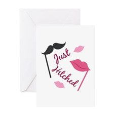Just Hitched Greeting Cards