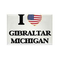 I love Gibraltar Michigan Magnets