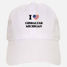 I love Gibraltar Michigan Baseball Baseball Cap