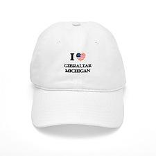 I love Gibraltar Michigan Baseball Cap
