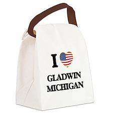 I love Gladwin Michigan Canvas Lunch Bag