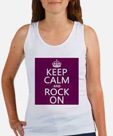 Keep Calm and Rock On Tank Top