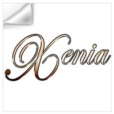 Gold Xenia Wall Decal