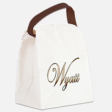 Gold Wyatt Canvas Lunch Bag