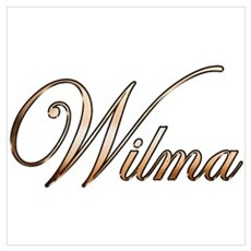 Gold Wilma Canvas Art