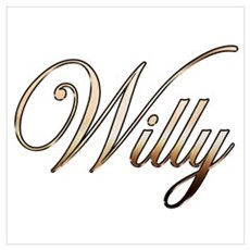 Gold Willy Canvas Art