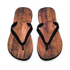 Old Wood Planks Flip Flops