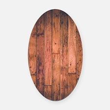 Old Wood Planks Oval Car Magnet
