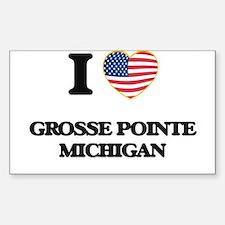I love Grosse Pointe Michigan Decal