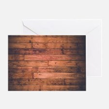 Old Wood Planks Greeting Card